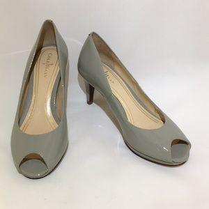 Cole Haan Nike Air gray peep toe pumps